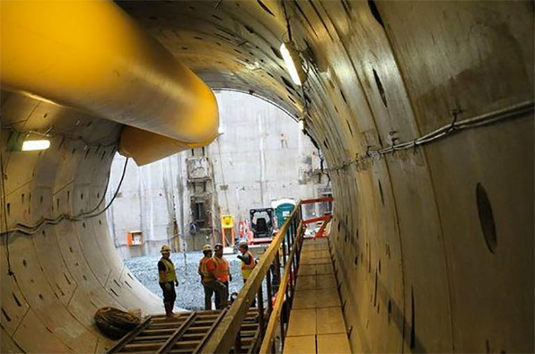 Excavation of First Street Tunnel completed