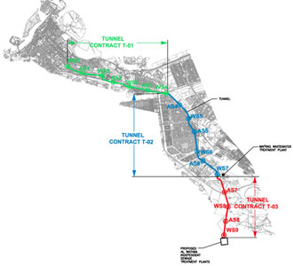 40km of main sewer tunnelling is split into three contracts