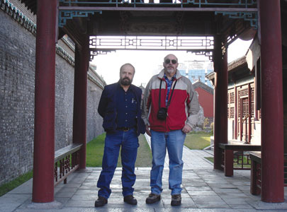 Dave and Mike Burngasser (right) on a cultural tour