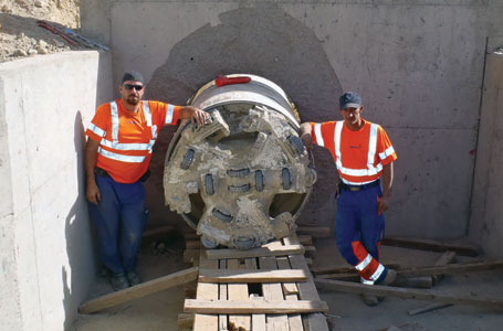 Bagram Airport culvert breakthrough