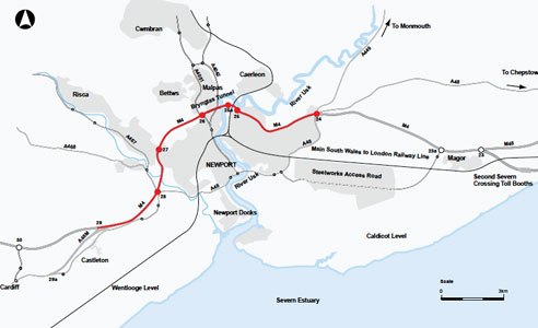 Option D – M4 widening and new tunnel