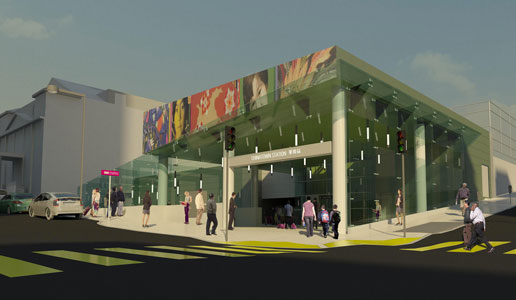 Artist impression of the Chinatown Station