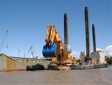 Fig 8. Backhoe dredger