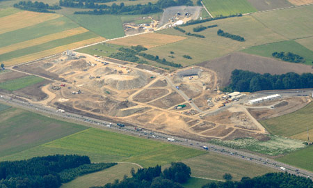 Aerial view of Steinbuhl construction site