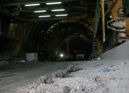 Tunnel construction work in Catanzaro