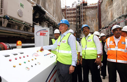 The Malaysian Prime Minister powers up the VD-TBM