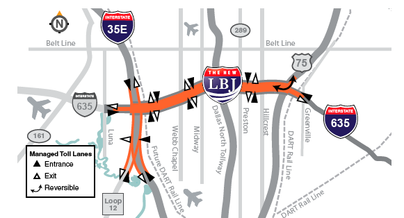 Map of new LBJ project