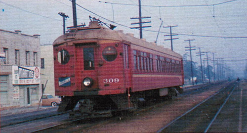 Trams, known as Red Cars, used to travel the streets of LA