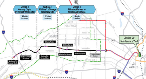 Fig 2. Phase 1 of the Purple Line extension is a design-build proposal of $1.636 billion from the Skanska/Traylor/Shea JV