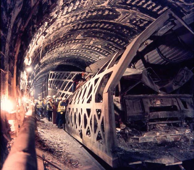 Live Test For Channel Tunnel Fire System