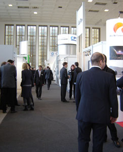 Exhibition stands run by the industry's leading companies were a popular draw