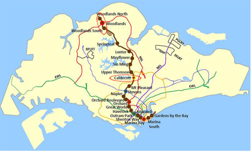 Thomson Line, as it integrates with the existing network