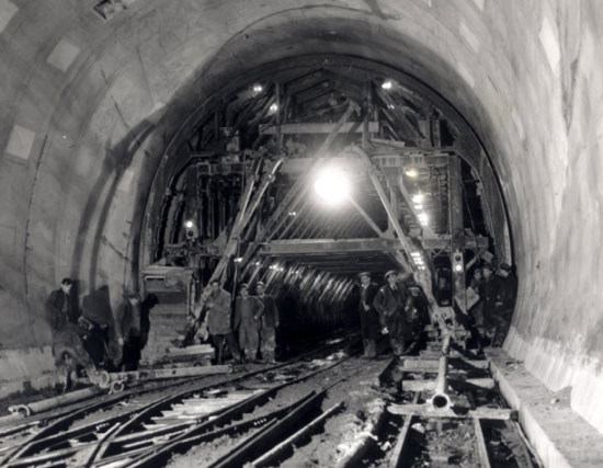 BR Tunnel under construction