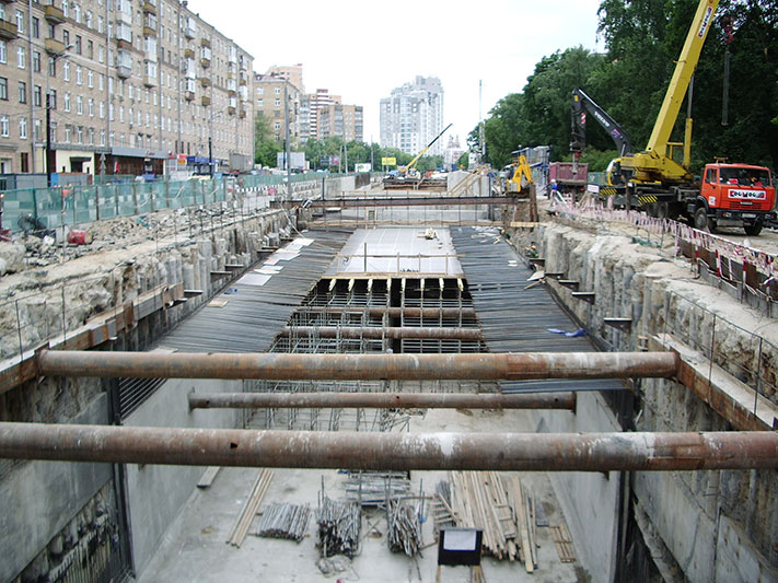 Open cut construction of the Halabyan-Baltic Tunnel