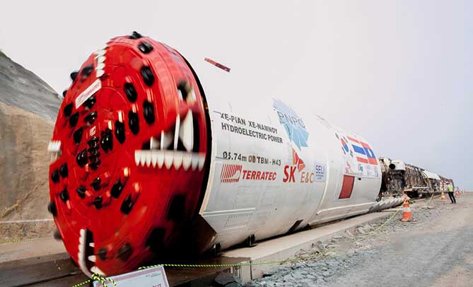 Terratec Double Shield TBM on site in Laos
