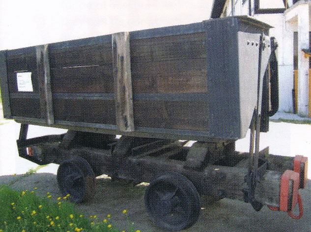 One of the original wooden box cars that started the brand­name rolling stock