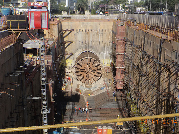 TBM breakthrough at Moema Station (Lot 7)