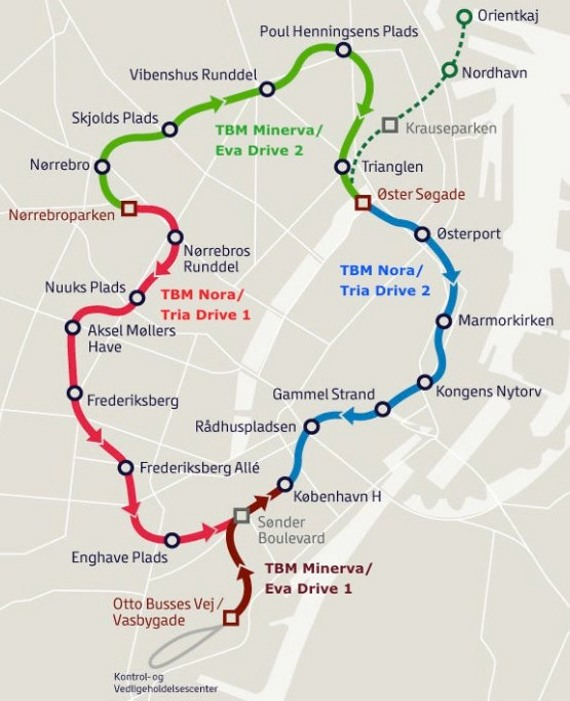 Fig 3. Revised Cityringen TBM schedule