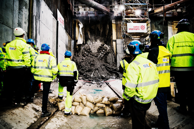 Historic first TBM breakthrough at Nørrebros (Dec 2013)