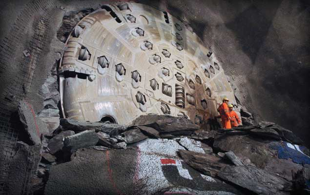 Robbins TBM breakthrough, 2008