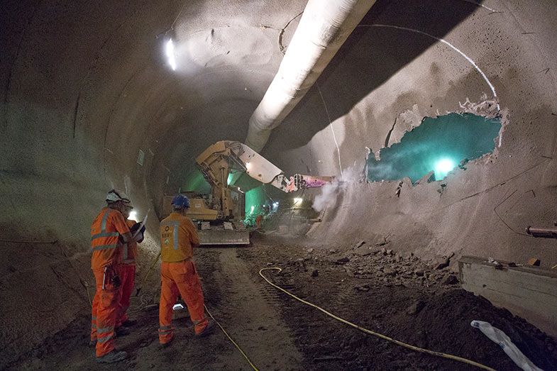 Whitechapel Station breaking out tunnel