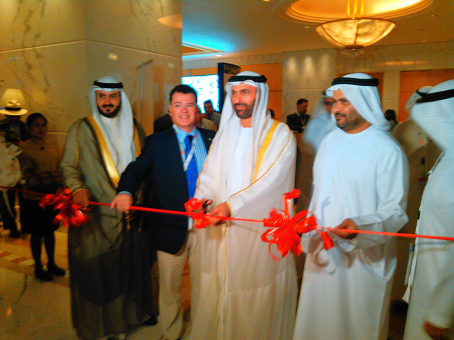 HE Essa Al Maidoor opens the exhibition of the 2015 event