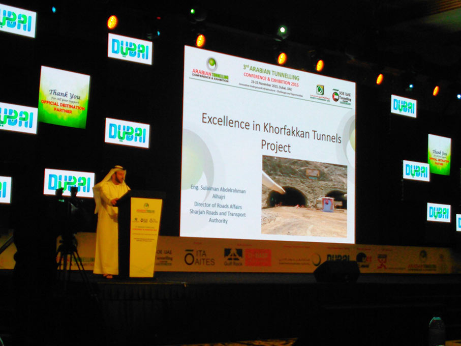 Presentation about the Khorfakkan road tunnel project in Sharjah