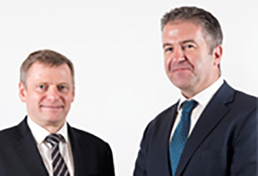 Uwe Krueger (left) and Dominic Harvey launch Atkins Acuity
