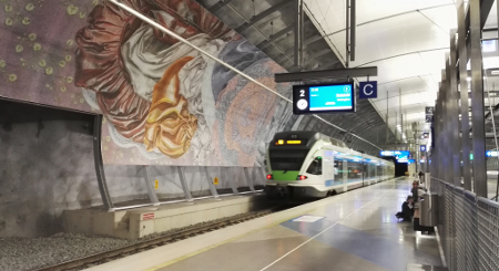 The Airport Metro Station of the new Helsinki Metro