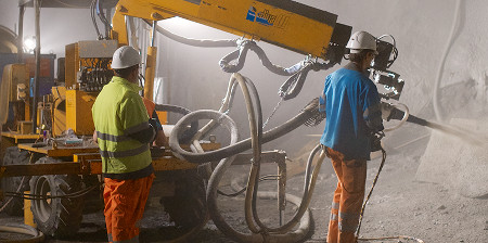 GCP TYRTO Shotcrete System offers improvements on conventional systems