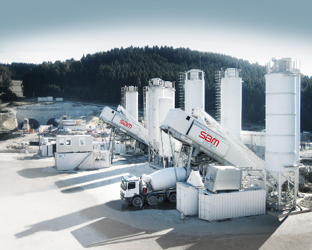 EUROMIX mobile concrete facility at the Goetschka Tunnel portal in Austria