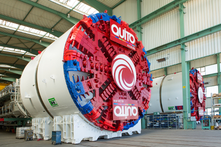 One of the two 9.36m TBMs for Quito Metro