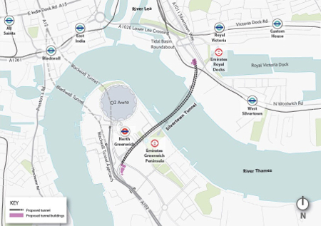 New crossing will relieve current chronic congestion on existing tunnel and bridge crossings of the lower Thames