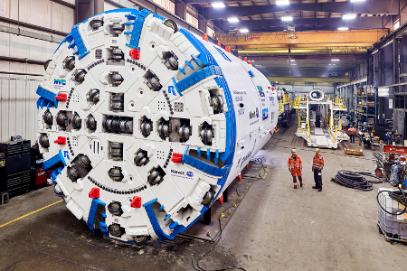 The 6.8m (21.6ft) Robbins single shield TBM