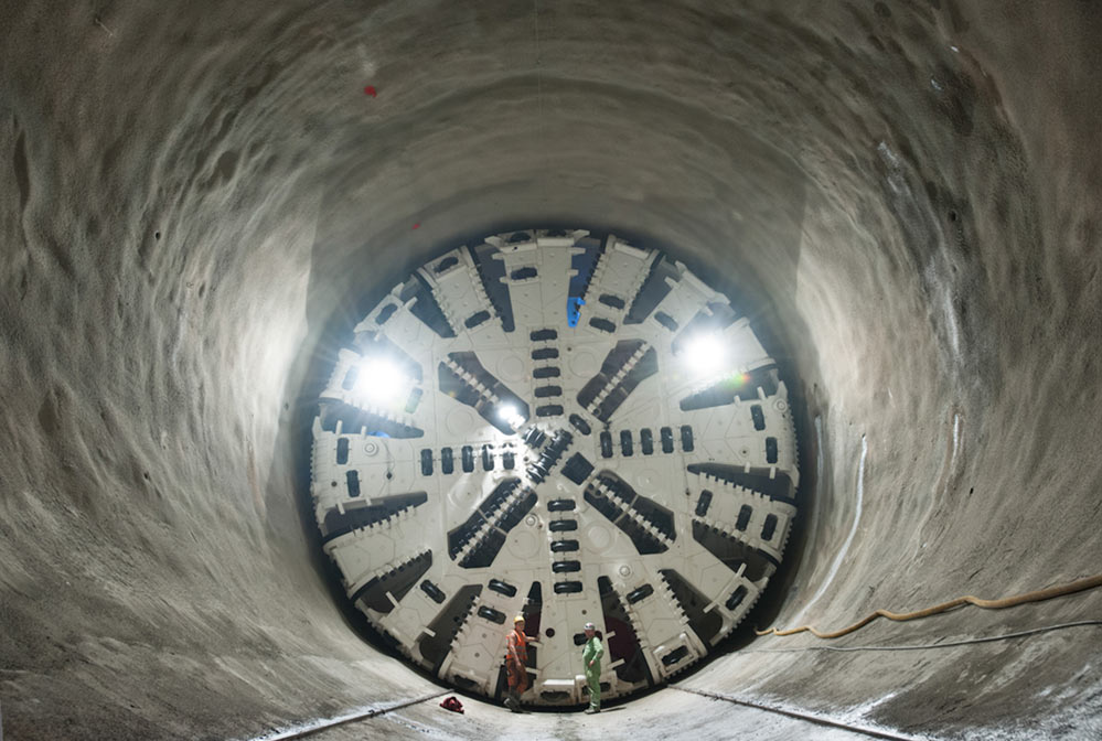 A single TBM is working on the Filder Tunnel