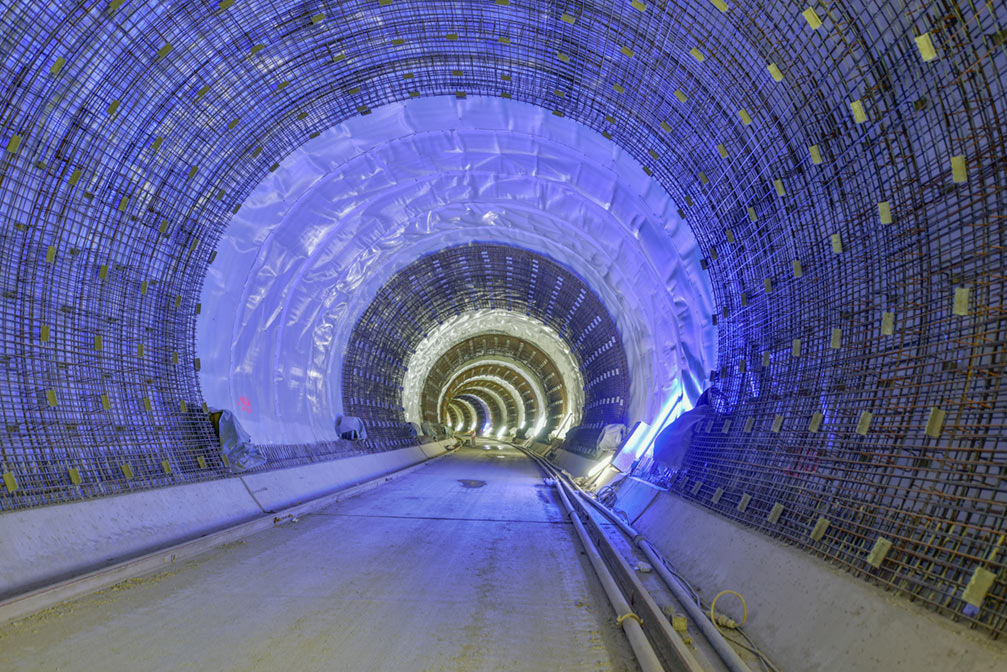 Waterproofing and final lining works in the Bad Canstatt Tunnel