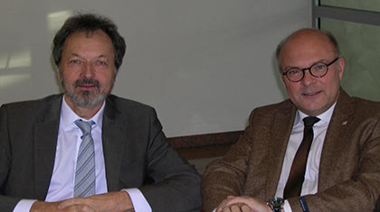 ITA-CET Committee Chairman Galler (right) and Vice Chairman Deffayet (left)