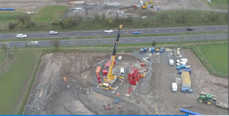 Preparing for the tunnel beneath the A77