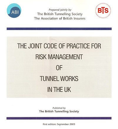 International Joint Code of Practice for Risk Management of Tunnel Works