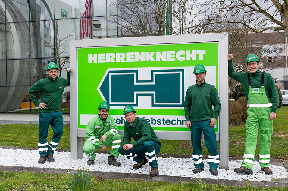Apprentices now employed at Herrenknecht