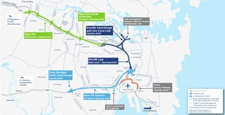 WestConnex aligns more than 22km of six-lane highway underground in twin tube tunnels