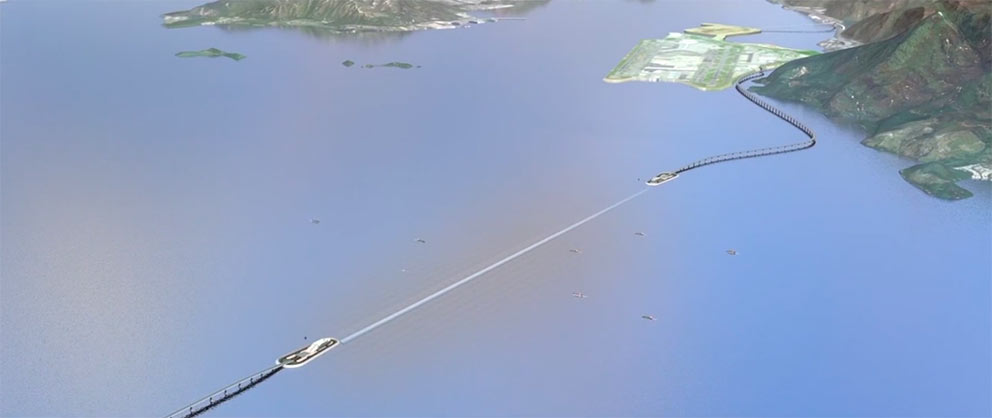 Hong Kong-Zhuhai-Macao immersed tube sea link highway is among the mega-projects shortlist