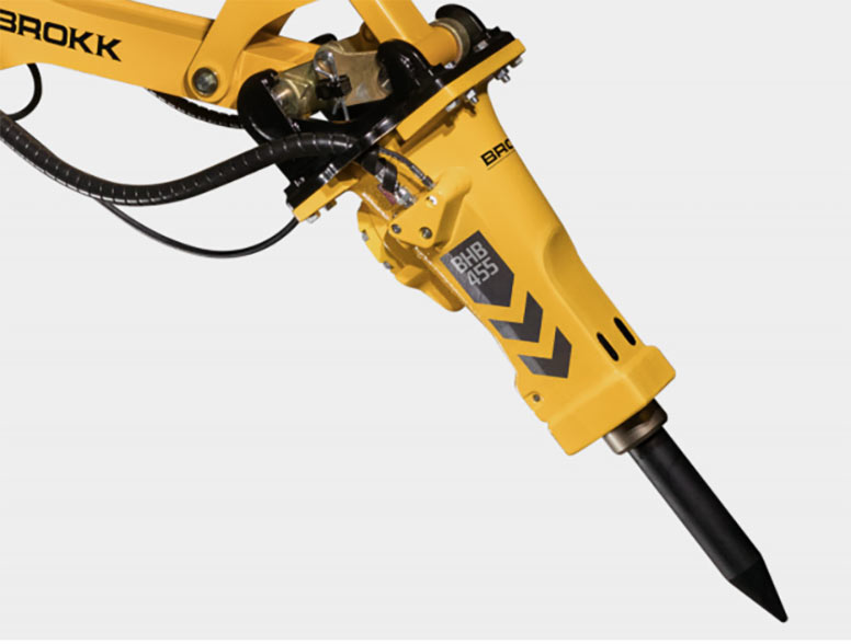 One of eight new hydraulic breakers from Brokk
