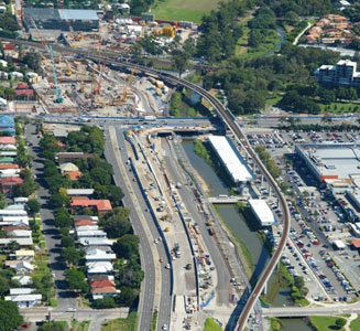 TBM working site at Toombul