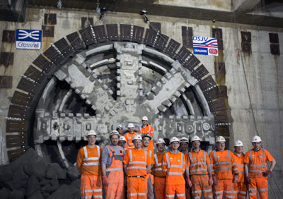 First EPBM breakthrough at Canary Wharf Station