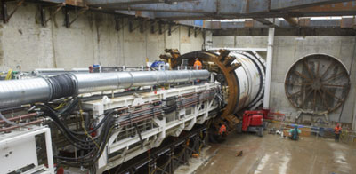 TBM Sophia launches for River Thames crossing