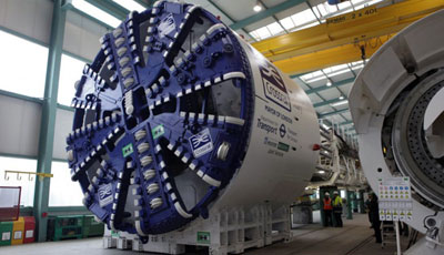 Slurry TBM Mary completes factory testing at Herrenknect factory prior to shipment