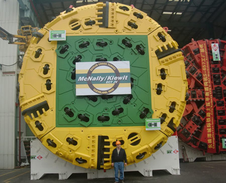 McNally/Kiewit JV launched Euclid Creek TBM in 2012